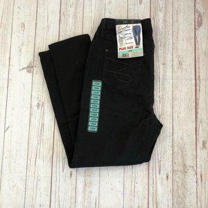 Seven7 black jeans skinny tummyless size 16W